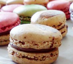 macarons con té negro, té verde o té rojo