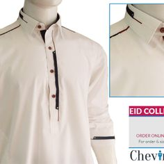 Chevin Shirley Eid Men Kurta Shalwar are trendy and stylish shalwar kameez for this festive occasion check out all the new designs launched by brand. Salwar Kameez Mens, Shalwar Kameez Pakistani, Kurta Men, Gents Kurta Design, Boys Kurta Design, African Shirts For Men, African Clothing For Men, Mens Designer Shirts, Designer Clothes For Men