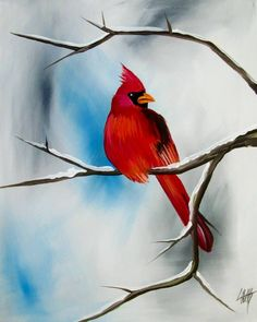 Bird Paintings On Canvas, Bird Artwork, Watercolor Paintings, Canvas Art, Watercolors, Acrylic Painting Lessons, Painting Techniques, Diy Painting, Painting On Wood