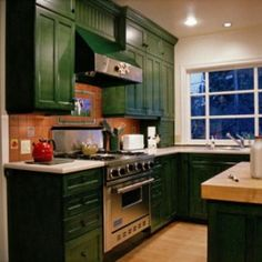 Green Kitchen Cabinets green kitchen cabinets |  kitchen with sage green antiqued