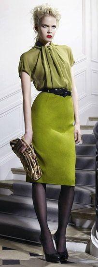 WORK CAPSULE: Item 11, Uniform: Olive Green Blouse (Dior)