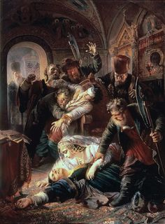 Убийство Фёдора Годунова в 1605 году. Константин Егорович Маковский