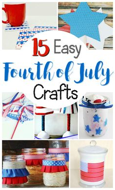 If you need fast crafts that you can make for the 4th of July at the last minute, this is a great collection! These patriotic crafts are fast and easy to make for both adults and kids. You will love all the red, white and blue ideas for quick family crafts to make at home with your kids. #creativegreenliving #fourthofjuly #4thofjuly #independenceday #patrioticcrafts #summercrafts Fourth Of July Decor, 4th Of July Celebration, 4th Of July Party, July 4th, Patriotic Crafts, July Crafts, Summer Crafts, Easy Diy Crafts, Diy Crafts For Kids