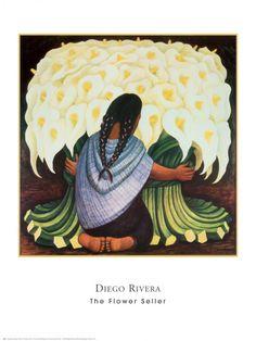 The Flower Seller, Diego Rivera1942