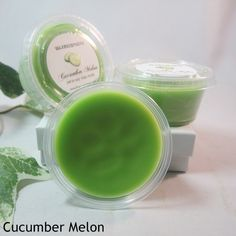 Cucumber Melon: a fresh, clean, fruity fragrance. The scent of fresh, cool cucumbers blended with juicy, sweet melons.  www.Waxmosphere.com