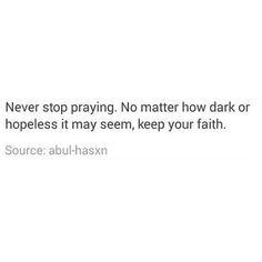 Trust Allah.