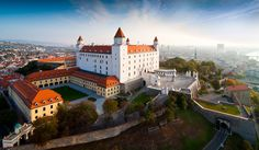 Book East Europe holiday tour packages from Mumbai & Ahmedabad Travels. We offer best itinerary, vegetarian food with Luxurious hotel stays on East Europe trip. Most Beautiful Cities, Beautiful Buildings, European River Cruises, Bratislava Slovakia, Europe Holidays, Heart Of Europe, Eastern Europe, Holiday Destinations, Cool Pictures