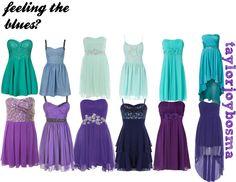 """blue/purple dresses"" by taylorbosma on Polyvore"
