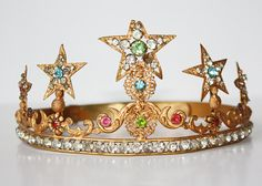 i'm obsessing Rare French Jeweled Antique Lifesize Crown by ParisCoutureAntiques, $925.00
