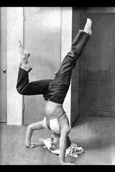 Marilyn Monroe doing Yoga Loved and Pinned by www.downdogboutique.com to our Yoga community boards