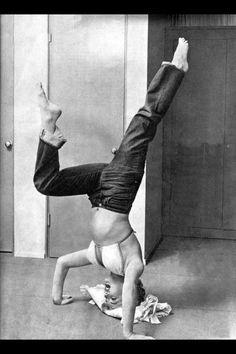 Marilyn Monroe doing Yoga