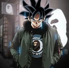 Dragon Ball character in excessive fashion Dragon Ball Gt, Anime Gangster, Goku Wallpaper, Estilo Anime, Animes Wallpapers, Anime Style, Cartoon Art, Anime Characters, Character Art