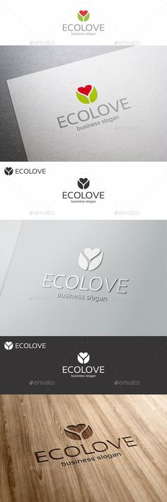 Eco Love Care Heart - Logo Design Template Vector #logotype Download it here: http://graphicriver.net/item/eco-love-care-heart-logo/12318583?s_rank=602?ref=nexion