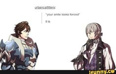 Fire emblem Frederick and Jakob.  Their supports were the best!