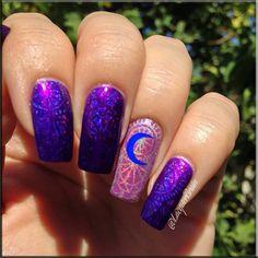 3D American Manicure-blue @ #Best nail #www.ballupdate.net