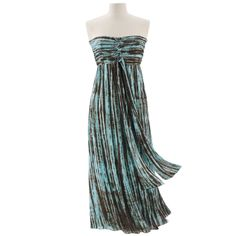 Chic Tie Dyed Dress - New Age, Spiritual Gifts, Yoga, Wicca, Gothic, Reiki, Celtic, Crystal, Tarot at Pyramid Collection