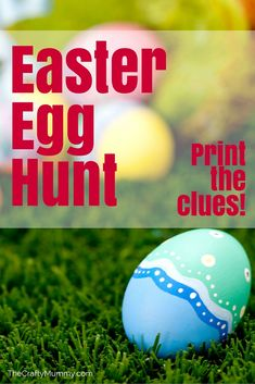 Easter Egg Hunt with Clues - Planning an Easter Egg Hunt at your place? Print out free clues to get you started.