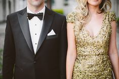 Chic Melbourne Wedding by Tori and Sal Anita Moore dress design gold sequin