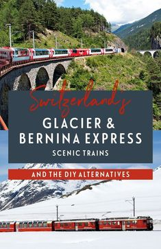 The Bernina and Glacier Express in Switzerland are two of Europe's more spectacular rail journeys. But are these Swiss scenic trains worth the cost or can you do it yourself cheaper? Switzerland Itinerary, Switzerland Cities, Switzerland Vacation, Visit Switzerland, Ski Europe, Europe Travel Tips, Backpacking Europe, Europe Train, Travelling Europe