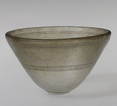 Conical bowl, 2nd–1st century b.c.  Hellenistic; Said to be from Syria, Cast glass
