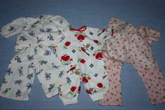 Three Pajamas for Babies 1950s