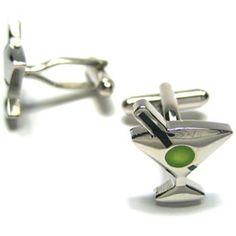 Silver Martini Cufflinks: Modern Mart... $24.99 #topseller