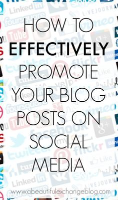 How to promote your blog successfully via social media [+ a Giveaway] - A Beautiful Exchange