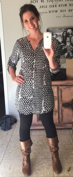 I need a tunic shirt like this to wear over leggings. A cute print like this, or even solid black! https://www.stitchfix.com/referral/5690583?sod=w&som=c