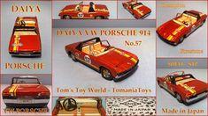 Tom's Toy World - TomaniaToys Porsche Model Cars, Porsche 914, Transporter Van, Corgi Toys, Tech Toys, Vw Volkswagen, Beetle, Tin, Racing