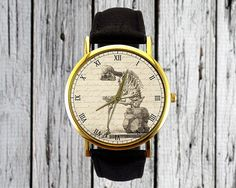 Vintage Human Skeleton Watch   Leather Watch   Ladies Watch   Mens Watch   Accessory   Holiday Gift Idea   Stocking Stuffer   Christmas Gift