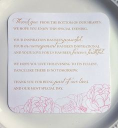 Check out this item in my Etsy shop https://www.etsy.com/listing/155536649/printable-wedding-reception-thank-you