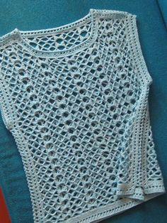 Débardeurs Au Crochet, Crochet Shell Stitch, Crochet Shirt, Crochet Jacket, Crochet Woman, Easy Crochet, Crochet Stitches, Crochet Patterns, Blanket Crochet