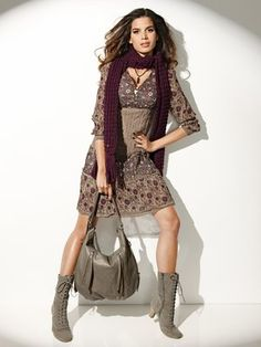 #Heine - Dress Scarf Bag Boots