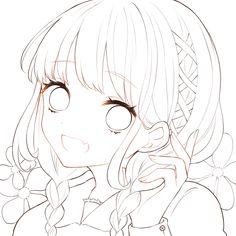 「フリー線画」の検索結果 - Yahoo!検索(画像) Anime Drawings Sketches, Anime Sketch, Kawaii Drawings, Cute Drawings, Lineart Anime, Anime Chibi, Manga Anime, Anime Character Drawing, Cartoon Girl Drawing