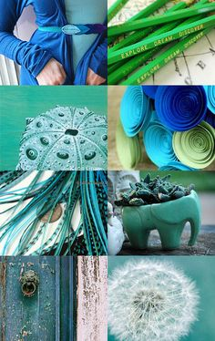 blue - green moodboard