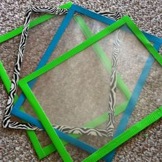 For center worksheets.  Use dry erase markers( fewer copies), report covers, and frame  with colorful Duck Tape.