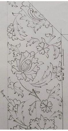 Güzel bir model Islamic Art Pattern, Arabic Pattern, Batik Pattern, Pattern Art, Persian Motifs, Font Art, Iranian Art, Turkish Art, Embroidery Motifs