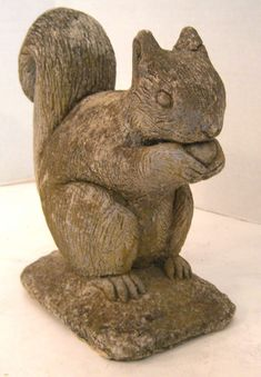View this item and discover similar for sale at - A detailed cast stone figure of a squirrel holding an nut. Cement Statues, Outdoor Statues, Garden Statues, Prayer Garden, Contemporary Garden Design, Faux Flower Arrangements, Paper Mache Crafts, Garden Ornaments, Lawn Ornaments