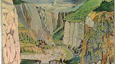 J.R.R Tolkien's  illustrations for The Hobbit