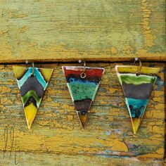 Items similar to Geometric ceramic triangle pendant with long chain, long necklace with chevron and line pattern on Etsy Ceramic Jewelry, Line Patterns, Chevron, Triangle, Ceramics, Chain, Pendant, Unique Jewelry, Handmade Gifts