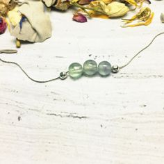 Rainbow Fluorite Necklace Green Fluorite by CrystalMinded on Etsy