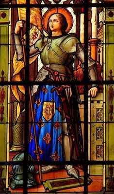 Charlemagne and St. Joan of Arc's Traditional Faith - Nobility and Analogous Traditional Elites Stained Glass Church, Stained Glass Angel, Stained Glass Windows, Saint Joan Of Arc, St Joan, Catholic Art, Catholic Saints, Henri Matisse, Art Nouveau