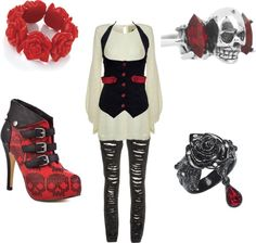 Bloody Rose, created by kerstynu on Polyvore - Looks like something Helena Bottom Carter would wear