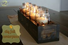DIY wooden box as a Thanksgiving centerpiece!