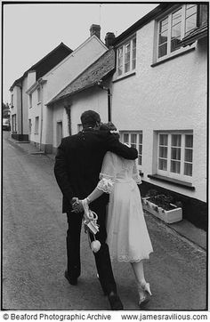 Couple after their wedding, Dolton, Devon, England, 1983 - by James Ravilious