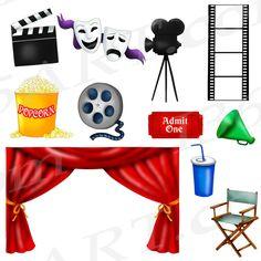 50% de descuento película Clipart Clip art Clipart de teatro
