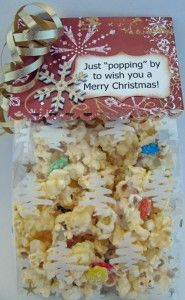 treat bag topper Jolly Holiday, Holiday Fun, Holiday Ideas, Holiday Gifts, Merry Christmas To All, Christmas Candy, Christmas Treats, Microwave Popcorn, Volunteer Gifts