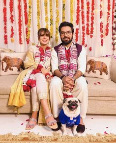 Image may contain: one or more people, people sitting and indoor Pakistani Wedding Outfits, Pakistani Dresses, Indian Outfits, Indian Attire, Fashion Couple, Baby Girl Fashion, Best Couple Pictures, Couple Ideas, Pakistan Wedding