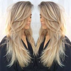 Long Layered Haircuts , The secret to getting a layered haircut is to make sure that the hair appears layered as opposed to choppy. Layered haircuts may add a whole lot of di. Straight Hairstyles, Long Choppy Layered Haircuts, Long Blonde Haircuts, Layered Haircuts For Long Hair, Haircut Long Hair, Long Layered Haircuts Straight, Choppy Layers For Long Hair, Long Straight Layered Hair, Fast Hairstyles