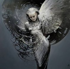 """Has father from Heaven Sent the Angel to me?"" ― E.A. Bucchianeri ~ Artist Karol Bak"